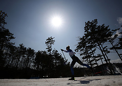 A competitor makes her way round the course in the Women's 1.5km Sprint Classic, Standing Cross Country Skiing at the Alpensia Biathlon Centre during day five of the PyeongChang 2018 Winter Paralympics in South Korea