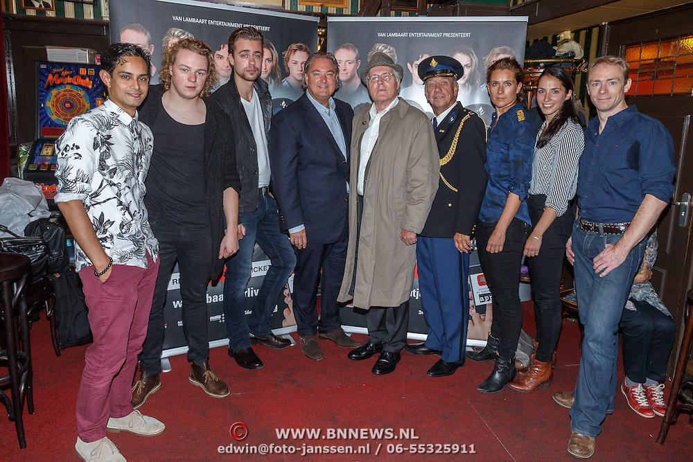 NLD/Amsterdam/20150916 - Perspresentatie Baantjer Live 2, Gaby Milder, Roben Mitchell van den Dungen, Hayo Kruijff, Nienke Sikkens, Beau Schneider, Peter Tuinman, Peter Romer
