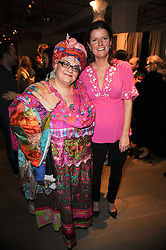 Left to right, CAMILLA BATMANGHELIDJH and CHLOE HILL at reception to raise funds for a Ugandan School Project supported by the Henry van Straubenzee Memorial Fund held at Few & Far, 242 Brompton Road, London SW3 on 11th February 2010.
