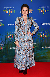 Candice Brown attending the premiere of Cirque du Soleil's Totem, in support of the Sentebale charity, held at the Royal Albert Hall, London.