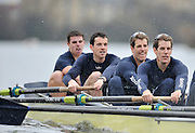Putney, GREAT BRITAIN,  Oxford left to right, Ben MYERS, Martin WALSH and  twins left Tyler, and Cameron WINKLEVOSS, during the  2010  Varsity/Oxford University  vs Leander Club, raced over the championship course. Putney to Mortlake, Sat. 20.03.2010. [Mandatory Credit, Peter Spurrier/Intersport-images]