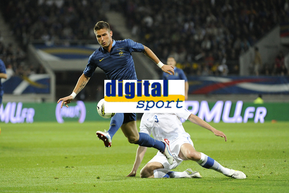FOOTBALL - INTERNATIONAL FRIENDLY GAMES 2011/2012 - FRANCE v ESTONIA  - 5/06/2012 - PHOTO JEAN MARIE HERVIO / REGAMEDIA / DPPI - OLIVIER GIROUD (FRA) / TAAVI RAHN (EST)