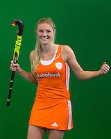 DEN BOSCH - SABINE VAN SILFHOUT  . Nederlands Hockeyteam  voor nieuwe platform Hockey.nl.    FOTO KOEN SUYK