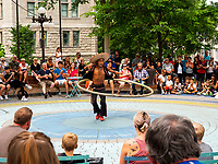 """In contrast to France, the city of Quebec is very favorable to street performances.Everything is done to help them.<br /> Algonquian people had originally named the area Kébec, meaning """"where the river narrows"""", because the Saint Lawrence River narrows proximate to the promontory of Quebec and its Cape Diamant. Explorer Samuel de Champlain founded a French settlement here in 1608, and adopted the Algonguin language term. Quebec City is one of the oldest European cities in North America. The ramparts surrounding Old Quebec are the only fortified city walls remaining in the Americas north of Mexico. This area was declared a World Heritage Site by UNESCO in 1985 as the """"Historic District of Old Québec"""". Algonquian people had originally named the area Kébec, meaning """"where the river narrows"""", because the Saint Lawrence River narrows proximate to the promontory of Quebec and its Cape Diamant. Explorer Samuel de Champlain founded a French settlement here in 1608, and adopted the Algonguin language term. Quebec City is one of the oldest European cities in North America. The ramparts surrounding Old Quebec are the only fortified city walls remaining in the Americas north of Mexico. This area was declared a World Heritage Site by UNESCO in 1985 as the """"Historic District of Old Québec""""."""