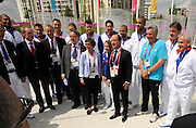 DESCRIZIONE : France Basketball Jeux Olympiques Londres <br /> GIOCATORE : Francois Hollande delegation francaise<br /> SQUADRA : France <br /> EVENTO : FRANCE Jeux Olympiques<br /> GARA : <br /> DATA : 30 07 2012<br /> CATEGORIA :Jeux Olympiques<br /> SPORT : BASKETBALL HANDBALL TIR<br /> AUTORE : JF Molliere <br /> Galleria : France JEUX OLYMPIQUES 2012 Magazine<br /> Fotonotizia : France Basketball Jeux Olympiques Londres Village Olympique<br /> Predefinita :