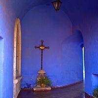 South America, Peru, Arequipa. Monasterio de Santa Catalina Cloisters.