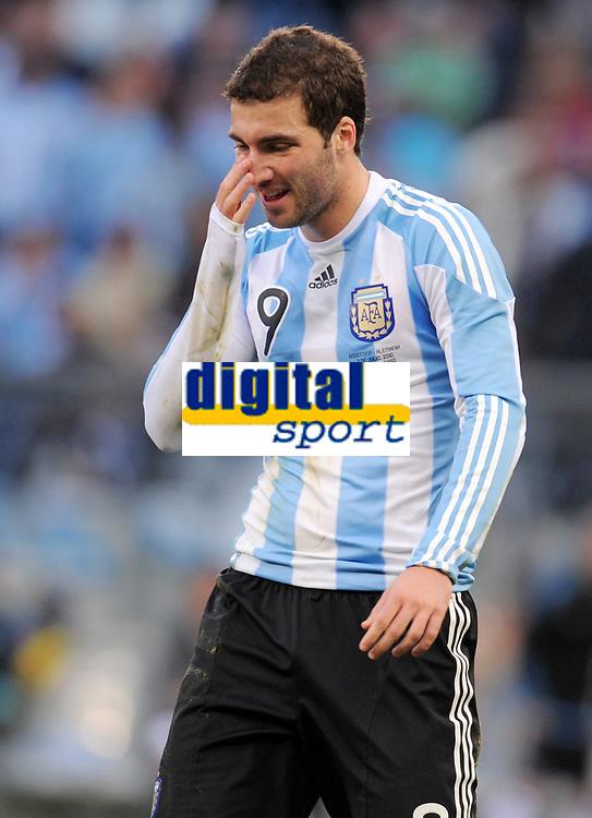 Fotball<br /> VM 2010<br /> Tyskland v Argentina<br /> 03.07.2010<br /> Foto: Witters/Digitalsport<br /> NORWAY ONLY<br /> <br /> Gonzalo Higuain (Argentinien)<br /> Fussball WM 2010 in Suedafrika, Viertelfinale, Argentinien - Deutschland