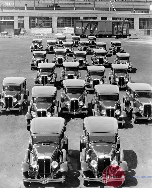 1931 Studebaker Six sedans at Studebaker's South Bend plant