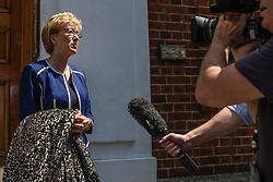 © Licensed to London News Pictures. 23/05/2019. London, UK. Former Leader of the House of Commons Andrea Leadsom seen in Westminster. She has resigned  from the government on the grounds that she cannot support proposed changes to the Withdrawal Agreement Bill. Photo credit: Rob Pinney/LNP