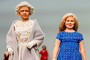 AMALIA DOLL AND TRUMP DOLL AND QUEEN ELIZABETH DOLL