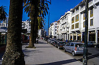 Center of Rabat, the capital and third largest city of Marokko.
