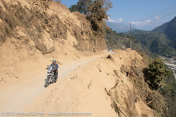 Bear Haughton on day-4 of our Himalayan Heroes adventure riding from Pokhara to Kalopani, Nepal. Friday, November 9, 2018. Photography ©2018 Michael Lichter.