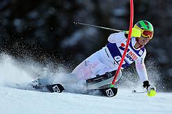 06.01.2014, Stelvio, Bormio, ITA, FIS Weltcup Ski Alpin, Bormio, Slalom, Herren, im Bild Akira Sasaki // Akira Sasaki  in action during mens Slalom of the Bormio FIS Ski World Cup at the Stelvio in Bormio, Italy on 2014/01/06. EXPA Pictures © 2014, PhotoCredit: EXPA/ Sammy Minkoff<br /> <br /> *****ATTENTION - OUT of GER*****