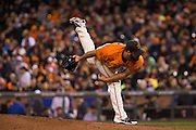 San Francisco Giants relief pitcher Josh Osich (61) pitches against the St. Louis Cardinals at AT&T Park in San Francisco, Calif., on September 16, 2016. (Stan Olszewski/Special to S.F. Examiner)