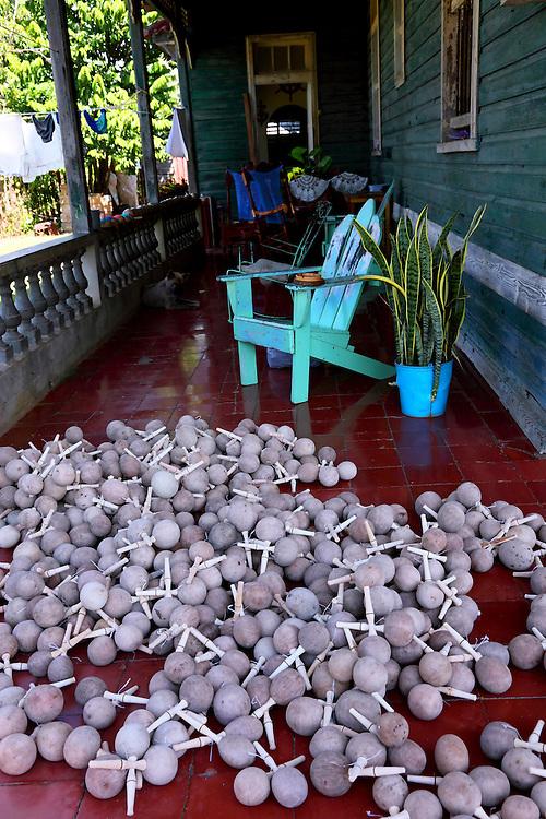 Porch in San Miguel de los Banos, Matanzas, Cuba.