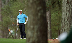 April 7, 2018 - Augusta, GA, USA - Rory Mcllroy hits from the 1st fairway during the third round of the Masters Tournament on Saturday, April 7, 2018, at Augusta National Golf Club in Augusta, Ga. (Credit Image: © Jason Getz/TNS via ZUMA Wire)