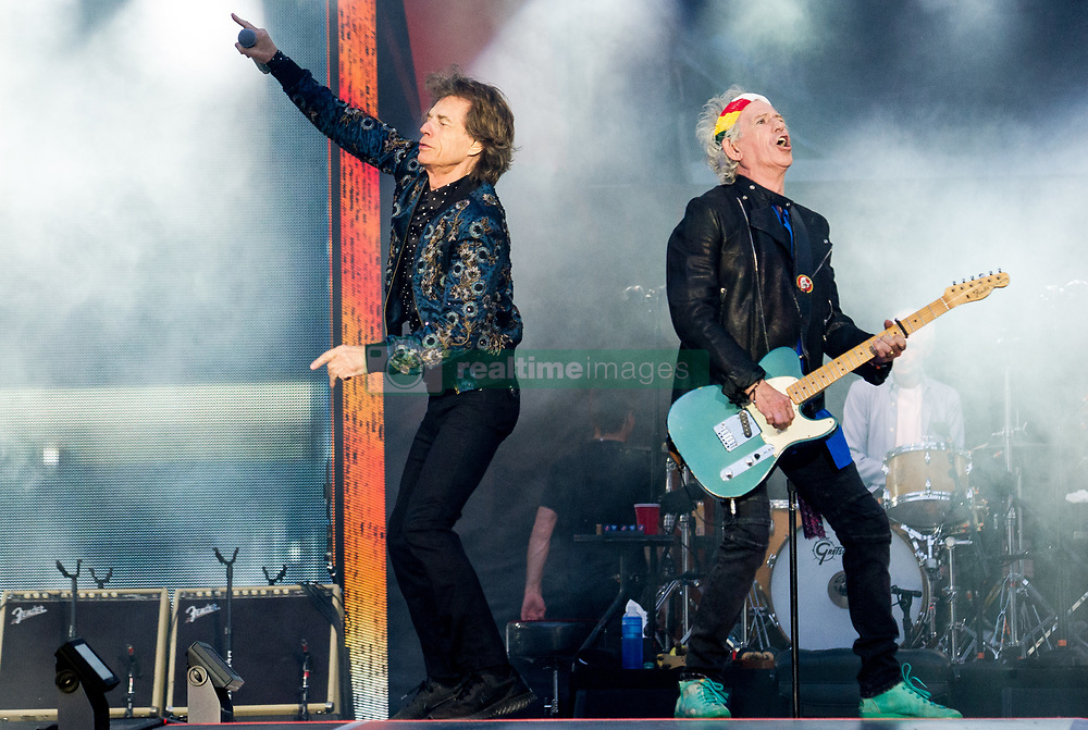 Mick Jagger and Keith Richards of the Rolling Stones perform on stage at Ricoh Arena on June 02, 2018 in Coventry, England. Picture date: Saturday 02 June, 2018. Photo credit: Katja Ogrin/ EMPICS Entertainment.