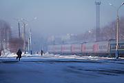 Komsomolsk-na-Amure railway station. Forming part of the BAM (Baikal-Amur Mainline) Railway Line. Siberia, Russia