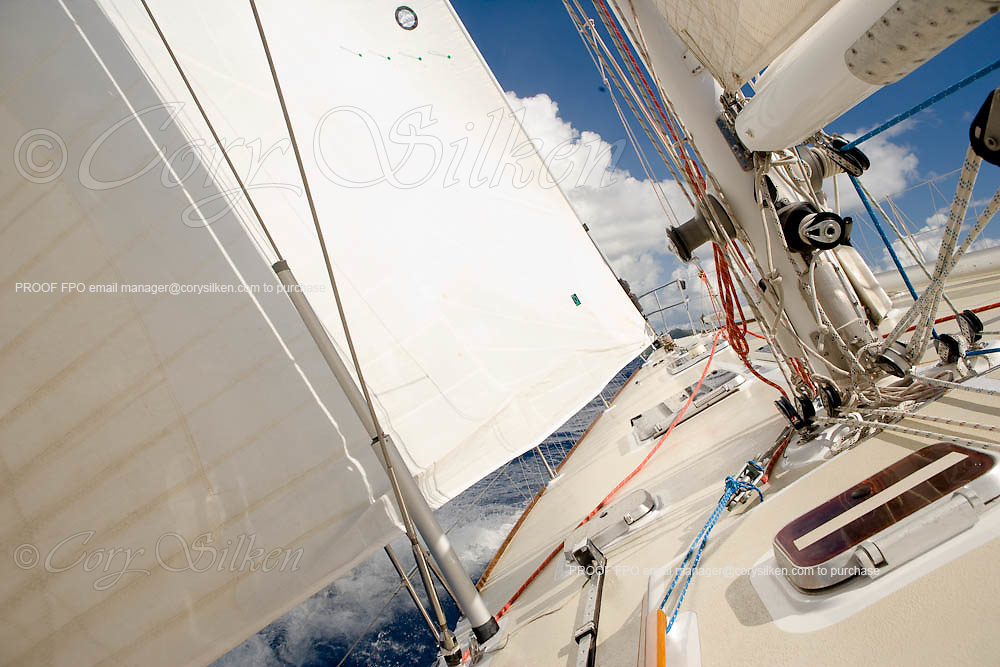 Onboard Synergy at the first annual St. Maarten Classic Yacht Regatta