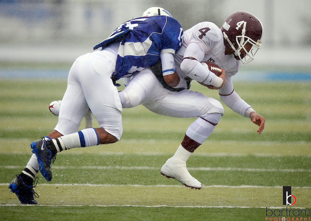 Mt. San Antonio College defeated College of San Mateo 7-6 for the 2009 CCCAA football state championship on Saturday, Dec. 12, 2009 in San Mateo, California. (Photo by Kevin Bartram)