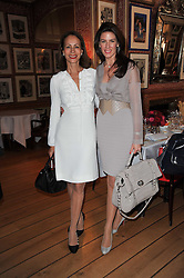 Left to right, ANDREA DELLAL and CHRISTINA ESTRADA-JUFFALI  at a lunch hosted by Roger Viver in honour of Bruno Frisoni their creative director, held at Harry's Bar, 26 South Audley Street, London on 31st March 2011.