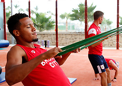 Korey Smith of Bristol City works out in the gym - Mandatory by-line: Matt McNulty/JMP - 20/07/2017 - FOOTBALL - Tenerife Top Training Centre - Costa Adeje, Tenerife - Pre-Season Training