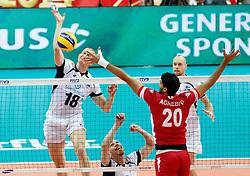 07.09.2014, Spodek, Katowice, POL, FIVB WM, Tunesien vs Finnland, Gruppe B, im Bild JUKKA LEHTONEN FIN // during the FIVB Volleyball Men's World Championships Pool B Match beween Tunisia and Finland at the Spodek in Katowice, Poland on 2014/09/07. <br /> <br /> ***NETHERLANDS ONLY***