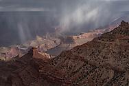 Grand Canyon, National Park, AZ, sunrise, rain, showers, storm, cloud, curtain, virga, South Rim,