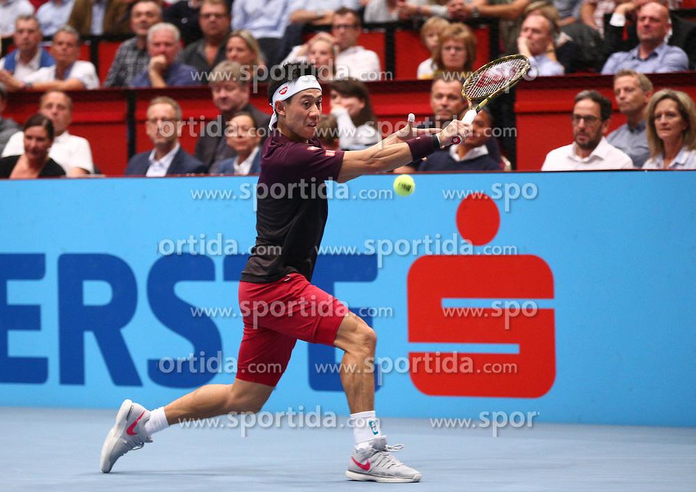 26.10.2018, Wiener Stadthalle, Wien, AUT, ATP Tour, Erste Bank Open, im Bild Kei Nishikori (JPN) // during the Erste Bank Open of ATP Tour at the Wiener Stadthalle in Wien, Austria on 2018/10/26. EXPA Pictures © 2018, PhotoCredit: EXPA/ Thomas Haumer