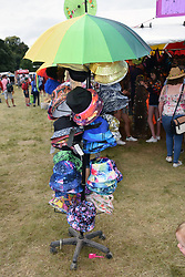Latitude Festival 2017, Henham Park, Suffolk, UK. Stall selling hats