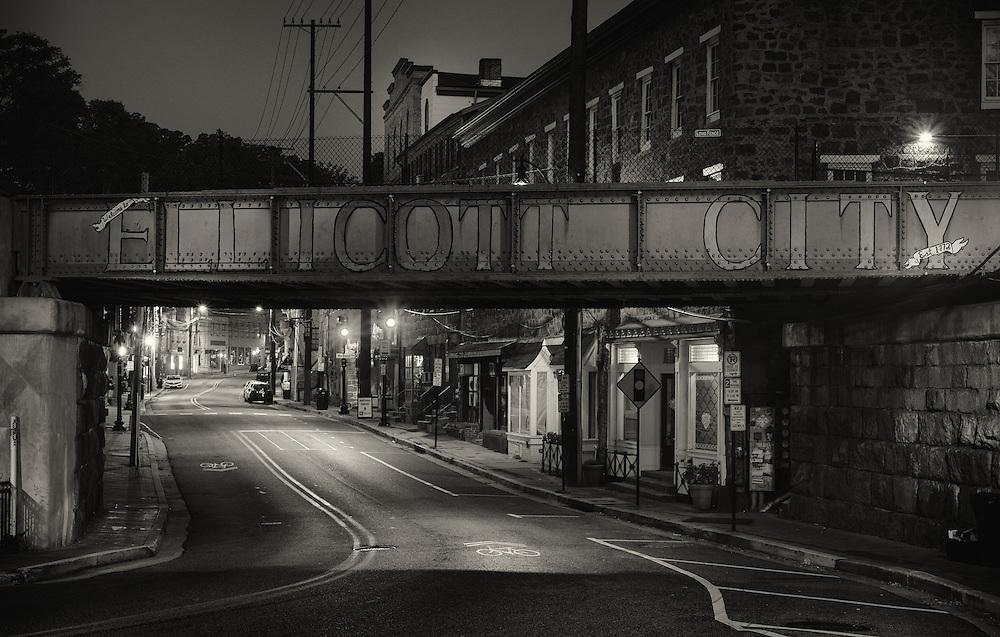 Ellicott City, Maryland train bridge.