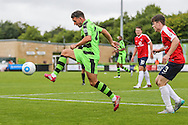Forest Green Rovers Liam Noble (15) controls the ball during the Vanarama National League match between Forest Green Rovers and York City at the New Lawn, Forest Green, United Kingdom on 20 August 2016. Photo by Shane Healey.