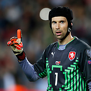 Czech Republic's goalkeeper Petr Cech during their UEFA Euro 2016 qualification Group A soccer match Turkey betwen Czech Republic at Sukru Saracoglu stadium in Istanbul October 10, 2014. Photo by Aykut AKICI/TURKPIX