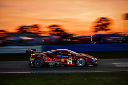 March 13, 2019 - Sebring, Etats Unis - 71 AF CORSE (ITA) FERRARI 488 GTE EVO GTE PRO DAVIDE RIGON (ITA) SAM BIRD (GBR) MIGUEL MOLINA  (Credit Image: © Panoramic via ZUMA Press)