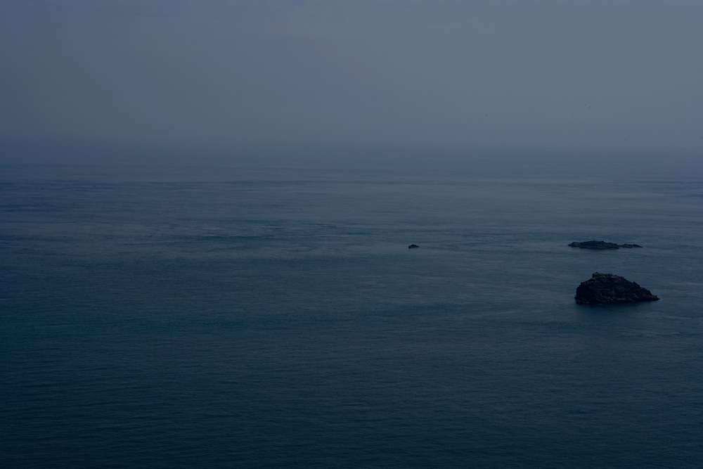 Blue sea and rock islands