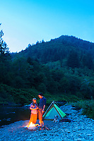 Camping along the Nehalem River, OR