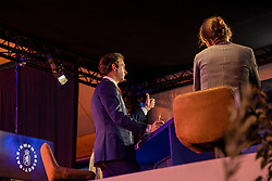 KSS auction, De Backer Frederik<br /> KWPN Hengstenkeuring 2021<br /> © Hippo Foto - Dirk Caremans<br />  03/02/2021