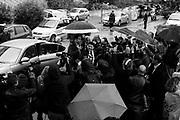 """Matteo Renzi al Corviale durante la visita al Calciosociale, realtà di aggregazione sportiva e non solo. ll Serpentone, soprannominato così dai romani, per la sua lunghezza di 1,200 Km, l' edificio progettato e costruito al Corviale, Roma 27 aprile 2017. Christian Mantuano / OneShot<br /> <br /> Matteo Renzi at Corviale neighborhood during his visit at Calciosociale cultural Association. """"The Serpentone"""", called by roman citizens, for its length of 1,200 Km, the building designed and built at Corviale neighborhood. Rome, 27 April 2017. Christian Mantuano / OneShot"""