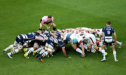 Bristol Rugby and Doncaster Knights scrum - Mandatory byline: Robbie Stephenson/JMP - 25/05/2016 - RUGBY UNION - Ashton Gate Stadium - Bristol, England - Bristol Rugby v Doncaster Knights - Greene King IPA Championship Play Off FINAL 2nd Leg.