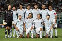 """SS Lazio team group<br /> <br /> Friendly match<br /> <br /> 8 Aug 2007 <br /> <br /> Lazio-Panathinaikos (2-1) <br /> <br /> """"Flaminio"""" Stadium-Roma-Italy <br /> <br /> Up: Marco Ballotta, Cristian Ledesma, Emilson Sanchez Cribari, Stefano Mauri, Guglielmo Stendardo, Simone Inzaghi, Luciano Zauri<br /> <br /> Bottom: Lionel Scaloni, Valon Behrami, Massimo Mutarelli, Goran Pandev<br /> <br /> Photographer Andrea Staccioli INSIDE"""