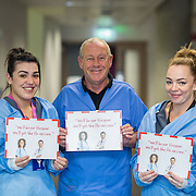 04.10. 2017.                   <br /> HEALTHCARE staff across the MidWest are taking part in a major vaccination programme to protect patients from flu this winter.<br />  <br /> UL Hospitals Group and HSE Mid West Community Healthcare this Wednesday joined forces to launch a flu campaign aimed at vaccinating thousands of healthcare workers in community, primary, mental health and acute hospital settings across Limerick, Clare and Tipperary. A national target of 40% uptake rate has been set by the HSE.<br /> <br /> Pictured at the launch were, Nicola Culhane, Infection Control, Tommy Maheady, Infection Control and Lisa Culhane, Infection Control.<br />  <br /> The HSE will next Monday, October 9th, launch its national flu campaign, with at-risk groups – including the over-65s; people with long-term chronic illnesses; pregnant women and residents of nursing homes and other longstay facilities – encouraged to get the vaccine from their family doctor or pharmacist. Picture: Alan Place