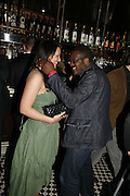 Martine McCutcheon and Orlando Hamilton, Spring party at Frankie Dettori's bar and Grill. 3 Yeoman's Row. London sw3. 10 April 2006. ONE TIME USE ONLY - DO NOT ARCHIVE  © Copyright Photograph by Dafydd Jones 66 Stockwell Park Rd. London SW9 0DA Tel 020 7733 0108 www.dafjones.com