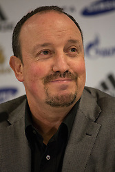 © licensed to London News Pictures. London, UK 22/11/2012. Rafael Benitez speaking as a press conference taking place to unveil Chelsea FC's new interim first-team manager Rafael Benitez at Tambling Suite of Chelsea Football Club in London. Photo credit: Tolga Akmen/LNP