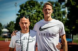 Rok Predanic, former Slovenian athlete and coach of Luka Janezic (R), on July 10, 2020 in ZAK, Ljubljana, Slovenia. Photo by Vid Ponikvar / Sportida