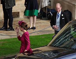 Duke and Duchess of Cambridge, Prince William and Catherine Middleton arrive ahead of the wedding of Princess Eugenie to Jack Brooksbank at St George's Chapel in Windsor Castle. 12 Oct 2018 Pictured: Duke and Duchess of Cambridge, Prince William and Catherine Middleton arrive ahead of the wedding of Princess Eugenie to Jack Brooksbank at St George's Chapel in Windsor Castle. Photo credit: WPA POOL/MEGA TheMegaAgency.com +1 888 505 6342