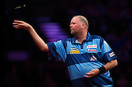Raymond van Barneveld in action against Gary Anderson in the Betway Premier League Darts at the Brighton Centre in Brighton, East Sussex. PRESS ASSOCIATION Photo. Picture date: Thursday 15th May, 2014. Photo credit should read: Chris Ison/PA Wire.