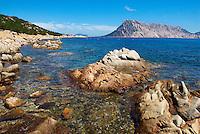 Italie, Sardaigne, Ile de Tavolara au sud de Olbia. // Italy, Sardinia, Tavolara island in south of Olbia.