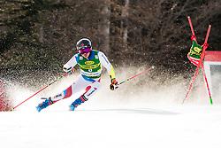 Gino Caviezel (SUI) during the Audi FIS Alpine Ski World Cup Men's Giant Slalom at 60th Vitranc Cup 2021 on March 13, 2021 in Podkoren, Kranjska Gora, Slovenia Photo by Grega Valancic / Sportida
