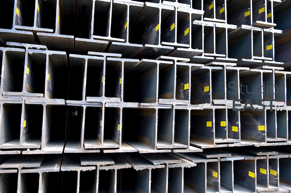 Newly-produced beams of steel wait to be shipped, at Siam Yamato Steel Co.'s Factory No. 2, in Maptaphut Industrial Estate, in Rayong, Thailand, on November 9, 2010. Photo by Lucas Schifres/Pictobank