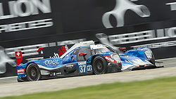 May 11, 2019 - Monza, MB, Italy - COOL RACING team (Lapierre, Borga and Coigny) in the middle of fast Ascari chicane in Monza during Free Practice Session 2 of ELMS italian round. (Credit Image: © Riccardo Righetti/ZUMA Wire)
